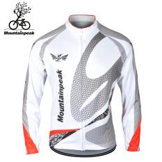 Harga Mountainpeak Bulu Hangat Tahan Angin Sepeda Jersey Lengan Panjang Kemeja Keren Chi Ditambah Versi Beludru Putih Merk Mountainpeak