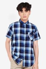 MOUTLEY Pakaian Kemeja Formal Pria Men Shirt Blue Diskon discount murah bazaar baju celana fashion brand branded