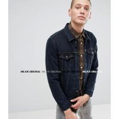 Tips Beli Mrj Jaket Denim Pria Jaket Premium Hitam Garment Yang Bagus