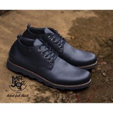 MRJ Sepatu Boots pendek Pria / MR JOE ORIGINAL / MRJ BOND ( HITAM )