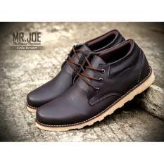 MRJ Sepatu Boots pendek Pria / MR JOE ORIGINAL / MRJ COLE ( COKLAT )