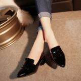 Jual Ms Sepatu Single England Baru Tebal Dengan Tip Sepatu Ringan Low Heel Fashion Joker Sepatu Wanita Intl Termurah