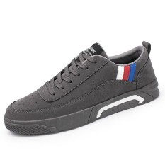 Mshoes Fashion Pria Renda-Up Kulit Sepatu Santai Beralas Datar-Intl 79fd26873c