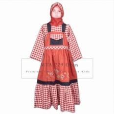 MTA 229 DE Oren 2-12 tahun grosir busana/ baju muslim anak perempuan (gamis)