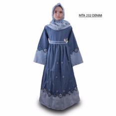 MTA 232 Denim 2-12 tahun grosir baju busana gamis jilbab muslim anak