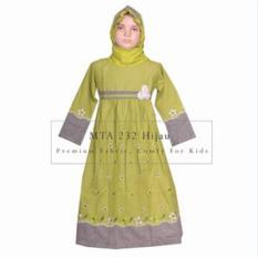 MTA 232 Hijau (2-12 tahun) Grosir Baju Anak Muslim Gamis Murah