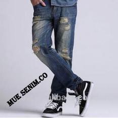 Harga Mue Denim Co Celana Panjang Pria Model Sobek Bahan Jeans Streets Pants Terbaru Jeans Ori