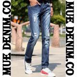 Mue Denim Co Celana Panjang Pria Model Sobek Bahan Jeans Streets Terbaru Original