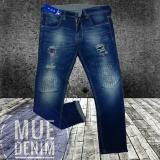 Beli Mue Denim Co Celana Panjang Pria Model Sobek Bahan Jeans Streets Terbaru Jeans