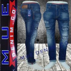 Spesifikasi Mue Denim Co Celana Panjang Pria Model Sobek Bahan Soft Jeans Streets Pants Terbaru Pria Yang Bagus