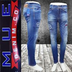 Harga Mue Denim Co Celana Panjang Pria Model Sobek Bahan Soft Jeans Streets Pants Terbaru Pria Mue Denim Co