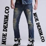 Jual Mue Denim Co Celana Panjang Pria Model Sobek Sobek Bahan Jeans Streets Pants Baru