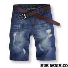 MUE Denim.Co Celana Pendek Pria BAHAN SOFT JEANS Model Sobek Terbaru