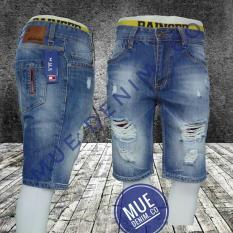 Beli Mue Denim Co Celana Pendek Pria Bahan Soft Jeans Model Sobek Terbaru Kredit