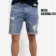 Katalog Mue Denim Co Celana Pendek Pria Bahan Soft Jeans Model Sobek Terbaru Mue Denim Co Terbaru