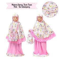 Mukena Anak Disney Tsum Pink Tas Selempang Xs