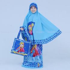Mukena Anak Karakter Putri AE Cantik Terbaru Dan Elegan Warna Biru