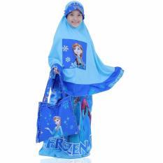 Mukena Anak Karakter Putri FZ Cantik Terbaru Dan Elegan Warna Biru