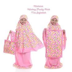 Mukena Anak Mickey Fruity Pink ( Tas Sajadah ) XL