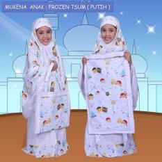 Mukena Anak Muslimah Frozen Tsum Putih Lucu