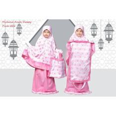 Harga Mukena Anak Muslimah Sleepy Pink 002 Merk Mukena Telekung