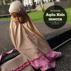 Beli Mukena Anak Premium Aqila Kids Mocca Mukena Telekung Online