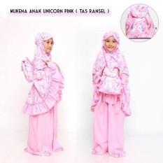 Mukena Anak Unicorn Pink Tas ransel
