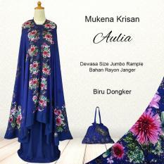 Mukena Bali Cantik Model Terbaru KriSula Warna Biru Dongker