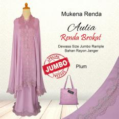 Mukena Bali Cantik Ukuran Jumbo Aulia Renda Brokat Premium Warna Plum