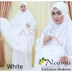 Mukena Bali Exclusive Renda Najwa Warna White Putih Tas Gagang Rotan By Arins Grosir Ecer Konveksi