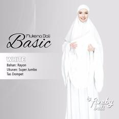 Mukena Bali Indah VerBasic Polos Ukuran Super Jumbo Warna Putih