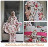 Harga Mukena Bali Premium Sahara Elegan Krem Fullset Murah