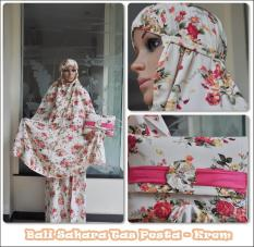 Jual Mukena Bali Premium Sahara Elegan Krem Jawa Barat