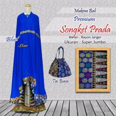 Mukena Bali PREMIUM Songket Prada - Blue Star