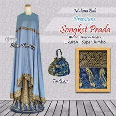Mukena Bali PREMIUM Songket Prada - Gray New Keong