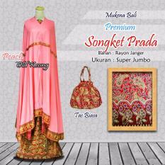 Mukena Bali PREMIUM Songket Prada - Peach Old Keong