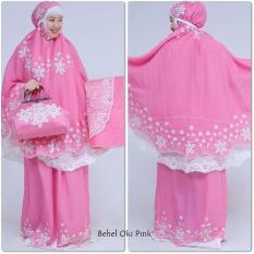 Mukena Behel Oky Pink Double Hycon