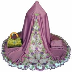 Mukena Bordir Semi Sutra Dove Pink