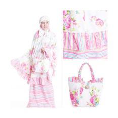 Promo Mukena Cantik Dewasa Katun Motif Bunga Pink Murah