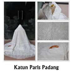 Mukena Cantik Terbaru Katun Paris Padang Polos Putih