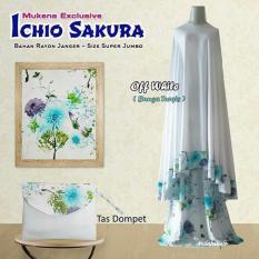 Mukena Ichio Sakura - Off White Bunga Purple