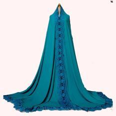 Mukena Dubai Arafah II Hijau - Renda Biru