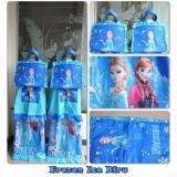 Review Mukena Katun Anak Frozen Ice Biru