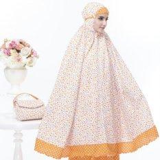 Jual Mukena Katun Camelia Oranye Antik