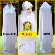 Mukena Katun Rayon Super Warna Putih Cerah Polos - MU426