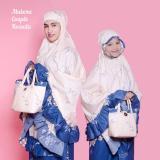 Jual Mukena Katun Rosetta 01 Couple Ibu Anak Set Cantiq Biru Satu Set