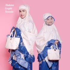 Jual Beli Mukena Katun Rosetta 01 Couple Ibu Anak Set Cantiq Biru Di Jawa Barat