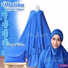 Jual Mukena Malika Renda Zipper Royal Blue Mukena Bali Grosir
