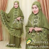 Spesifikasi Mukena Najwa Army By Arins Mukena Bali Mukena Cantik Yang Bagus