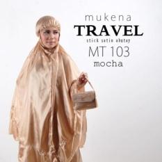 Review Terbaik Mukena Parasut Abutai Kornelia Travel Mocca